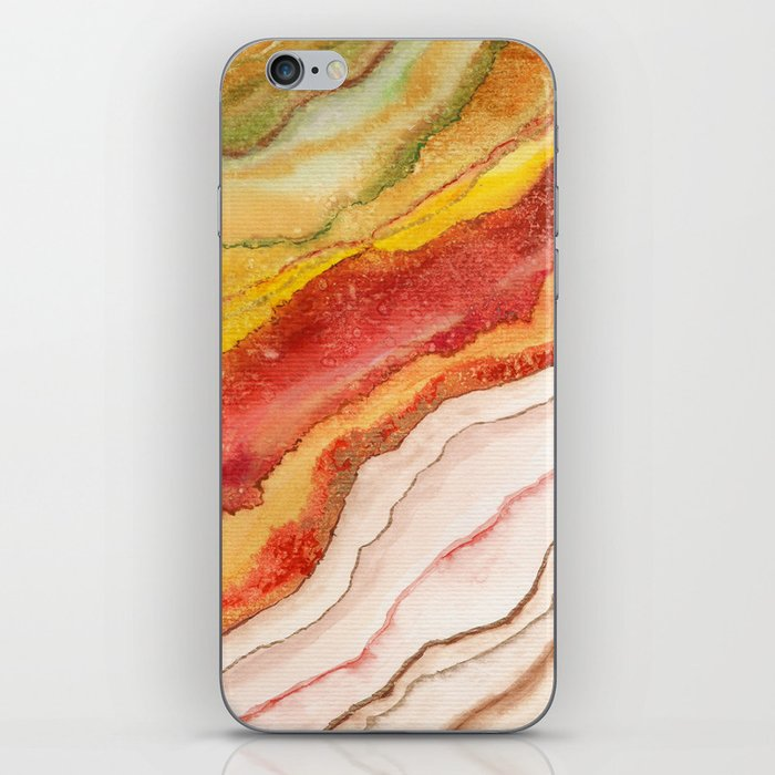 AGATE Inspired Watercolor Abstract 03 iPhone Skin