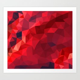 Ruby Red Low Poly Art Print