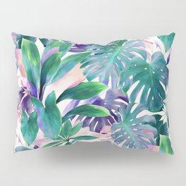 Pastel Summer Tropical Emerald Jungle Pillow Sham