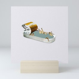 Surreal Sardine Tin II Mini Art Print