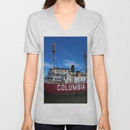 Fireship Columbia Unisex V-Neck