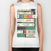 american psycho Biker Tanks featuring American Psycho by r054