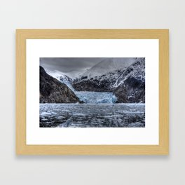 Sawyer Glacier talks back Framed Art Print