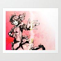 madoka Art Prints featuring Madoka by Vaahlkult