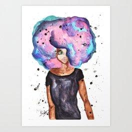 Afro Color Pop Art Print