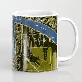 06-New Orleans Louisiana 1932, old colorful map Coffee Mug