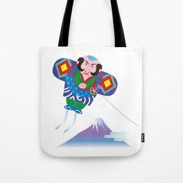 Japanese Kite and Mt.Fuji Tote Bag