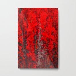 Fall Red Leaves Print Metal Print