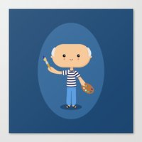 pablo picasso Canvas Prints featuring Pablo Picasso by Sombras Blancas Art & Design