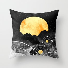Stars of the galaxy Throw Pillow