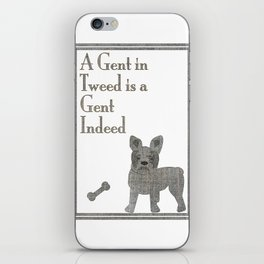 A Gent in Tweed is a Gent Indeed iPhone Skin