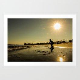 Crouched Sunset Art Print