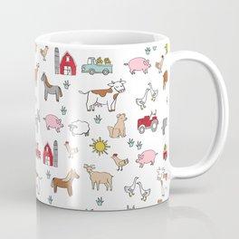 Farm animals nature sanctuary cow pig goats chickens kids gender neutral Coffee Mug