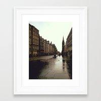 edinburgh Framed Art Prints featuring Edinburgh by Taylor Rae