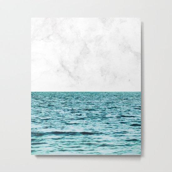 Ocean + Marble || #society6 #decor #buyart Metal Print