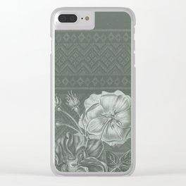 Flower - Argyle 2 Clear iPhone Case