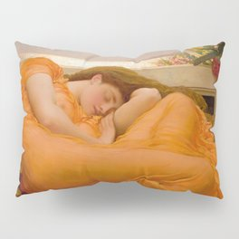 Flaming June Oil Painting by Frederic Lord Leighton Pillow Sham