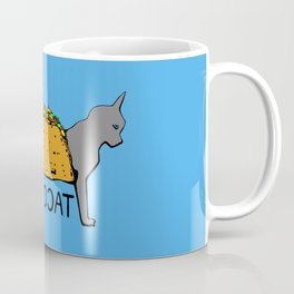 Tacocat Two-Headed Cat Taco with Lettering Coffee Mug