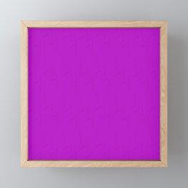 Electric Violet Framed Mini Art Print