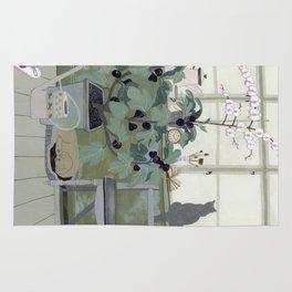 Indoor Garden With Fig Tree Rug