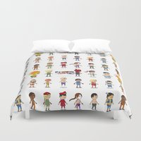 street fighter Duvet Covers featuring Super Street Fighter II Turbo by Glimy