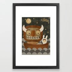 Where the wild things are fan art Framed Art Print