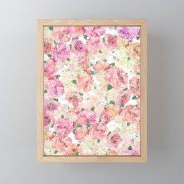 Flowers, Floral Explosion, Floral Pattern, Pink Flowers Framed Mini Art Print
