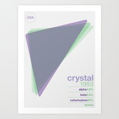 crystal single hop Art Print