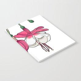 Dangling Fuchsia Flower Notebook