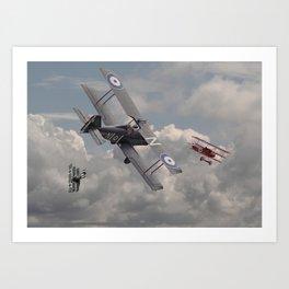 WW1 - SE5A -'Cat among the Pigeons' Art Print