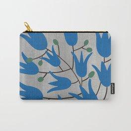 Blue Bell Flowers – Scandinavian Folk Art Carry-All Pouch