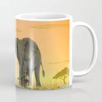 africa Mugs featuring africa by Priscila Arandiga