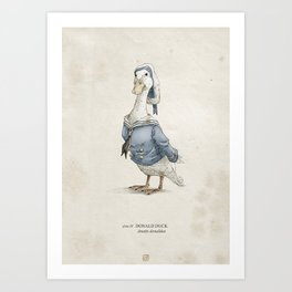 Real Life Donald Duck - Natural History Variant Art Print