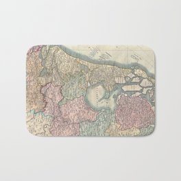 Vintage Map of The Netherlands (1799) Bath Mat