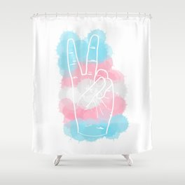 Transgender Pride Shower Curtain