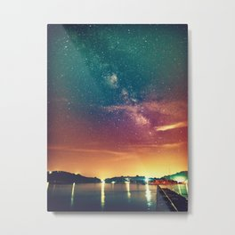 Milky Way Colorful Sunset Metal Print