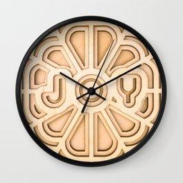 Joy - Wooden Laser Cut Print Wall Clock
