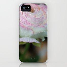 Soft pink flower iPhone Case