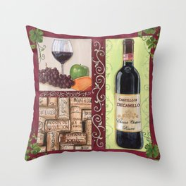 Chianti and Friends 2 Throw Pillow