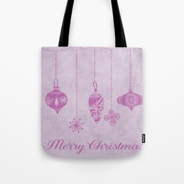 Pink glittering christmas decoration Tote Bag