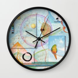 Song for Orange Bellied Parrot Wall Clock
