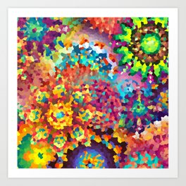 Party of Colors Art Print
