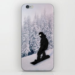 Snowboarding iPhone Skin