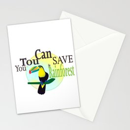 You TouCan Save The Rainforest Stationery Cards