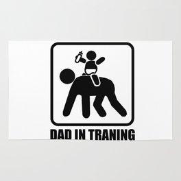 Dad in training Rug