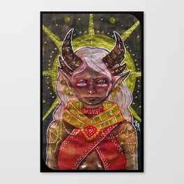 Qunari Tarot Card Canvas Print