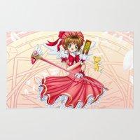 sakura Area & Throw Rugs featuring Sakura by clayscence