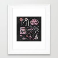 loll3 Framed Art Prints featuring Trick 'r Treat by lOll3