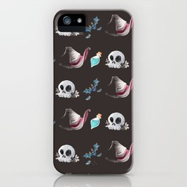 Halloween Witchy Pattern iPhone Case