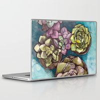 succulents Laptop & iPad Skins featuring Succulents by Kari Gale